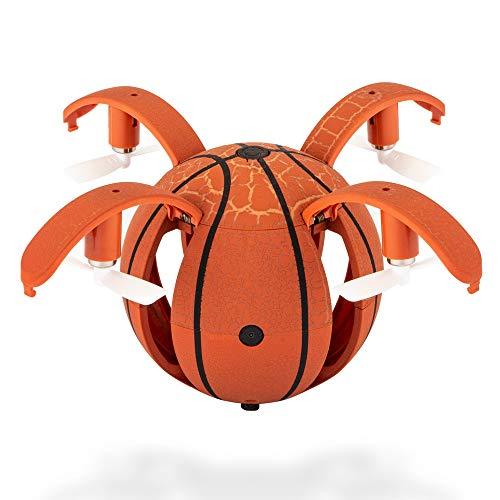 Fulltime E-Gadget Drone Pieghevole Basketball, 480P 2,4 GHz WiFi FPV G-Sensor RC Pocket Drone Aircraft