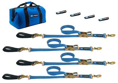 Mac's Tie-Downs 512208 Blue Ultra Pack with 8' x 2 Ratchet Straps and 24 Axle Straps by Mac's Tie-Downs -