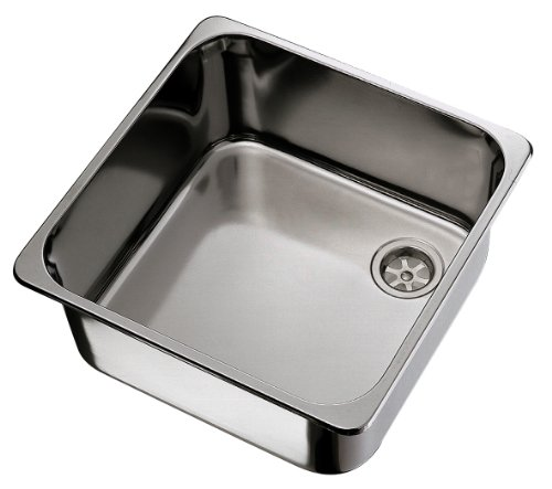 Ambassador Marine Rectangle Stainless Steel Brushed Finish Sink, 14 1/2-Inch Long x 14 1/2-Inch Wide x 9 3/4-Inch Deep