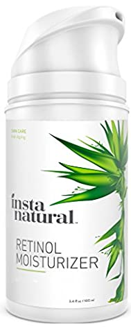 InstaNatural Retinol Feuchtigkeitscreme Creme - mit 2,5% Retinol, Vitamin C 10%, Vegan Hyaluronsäure, Sheabutter & (Pelle Secca Crema Idratante Mano)