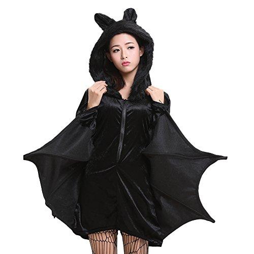 Samber Eltern-Kind Fledermaus Overall Halloween Cosplay Kostüm mit Kapuze