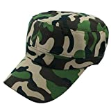 TIREOW Kappe Unisex Baseball Cap Flat Roof Militärhut Erwachsenen Mütze Sommer Cappy