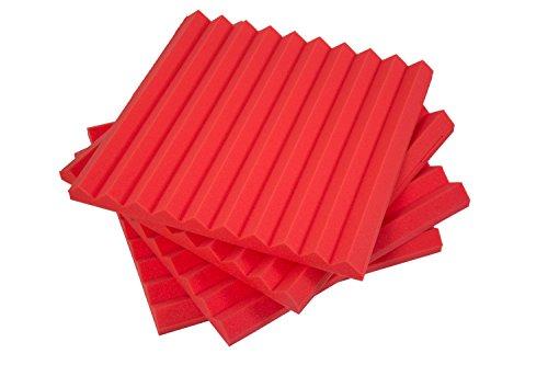 pannelli-fonoassorbenti-monopiramide-50x50x4-d35-rosso