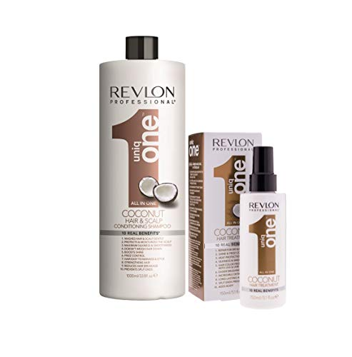 Pack Revlon Uniq One Champu Coconut 1000ml + Tratamiento