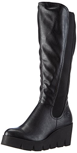 Marco Tozzi 25611, Damen Plateau Stiefel, Schwarz (Black Antic 002), 40 EU (6.5 Damen UK)