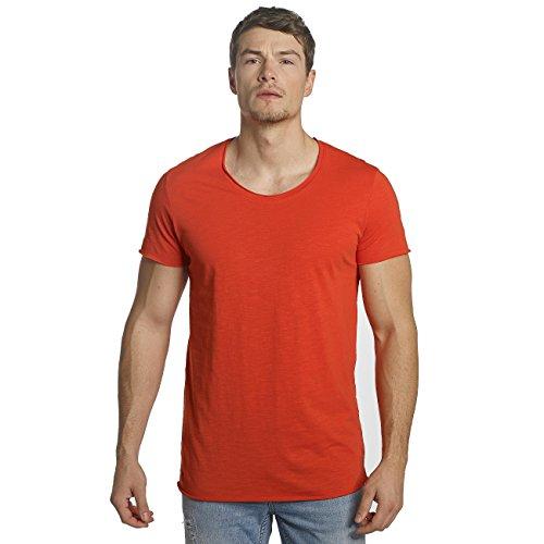 JACK & JONES Herren T-Shirt Jorbas Tee SS U-Neck NOOS Rot