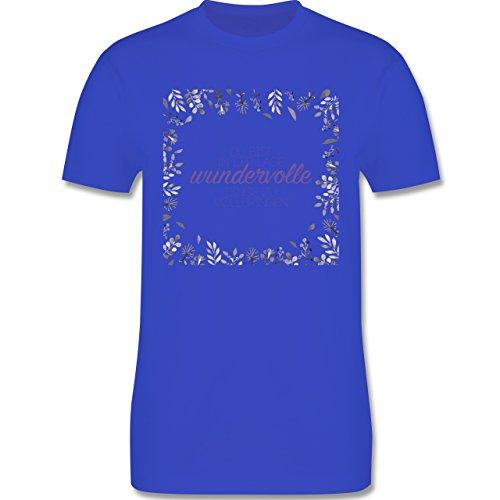 Statement Shirts - Inspirierende Zitate - Du kannst wundervolle Dinge - Herren Premium T-Shirt Royalblau