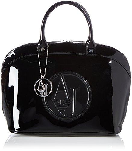 Armani Jeans 05230RJ, Sac à Main pour Femme Noir Schwarz (Nero - Black 12) 41x25x17 cm (B x H x T)