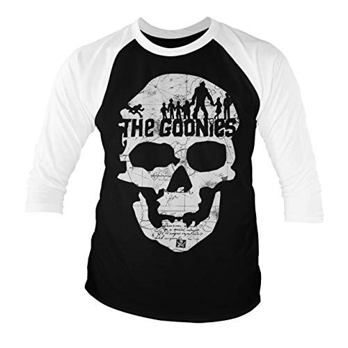 The Goonies Officially Licensed Skull Baseball 3/4 Sleeve T-Shirt, S to XXL