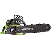 Greenworks Motosierra inalámbrica de 40cm y 40V Li-Ion con 2 baterías de 2Ah y cargador - 20077UC