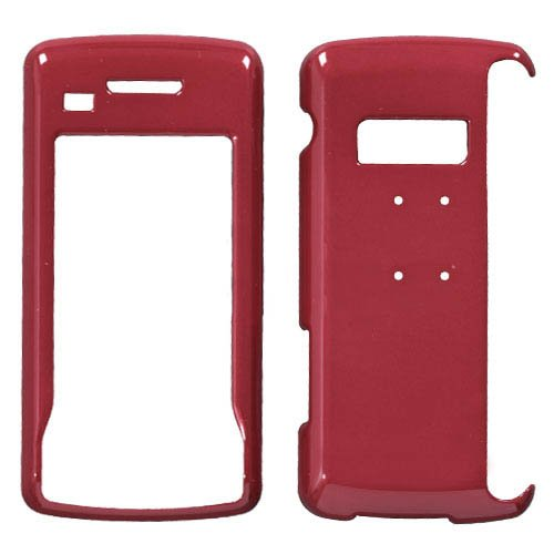 Hard Kunststoff Snap on Cover Passend für LG VX11000EnV Touch Solid Rot Env-snap