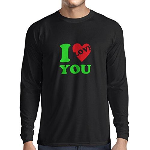 �rmeln Ich liebe dich! - Valentinstag Geschenke (Large Schwarz Grün) (Kreative Paar-kostüm Ideen)