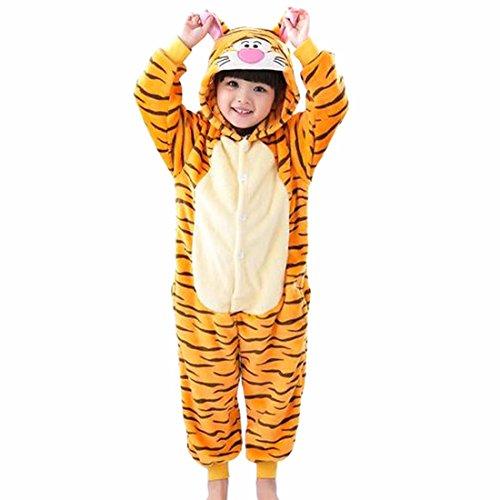 Baby Kuscheliger Kostüm Tiger - QIYUN.Z Karikatur-Tiger Mit Schwanz Hüfte Reißverschluss Baby Scherzt Pyjamas Tier Pullover Nachtwäsche