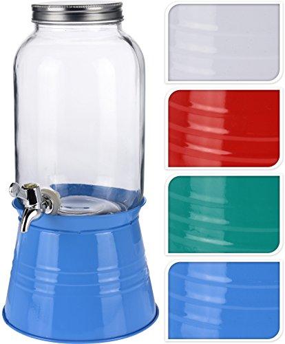 3.6l vetro distributore di bevande mason jar home outdoor picnic bbq parti con rubinetto e metallo tazza green