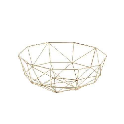 Dekoschale SKAGEN - Gold - rund - Drahtschale - Zitruskorb - Hygge - Nordic Style (32 x 11 cm) (Metall-schale Tafelaufsatz)