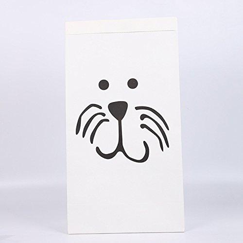 rungstasche Recycelbares Spielzeug Kleidung Schuhe Hausmüllbeutel ag 100% recyceltes Kraftpapier (Verschiedene Grafiken) Katze ()