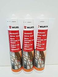 Würth Painter's Acrylic Cartridges 3 x 310 ml White