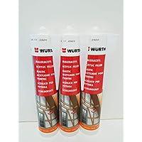 Würth - Pintura acrílica (3 cartuchos, 310 ml), color blanco
