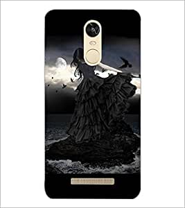 PrintDhaba Beauty and Darkness D-3546 Back Case Cover for XIAOMI REDMI NOTE 3 (Multi-Coloured)