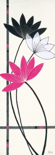 Eurographics ABU1012 Alan Buckle, Fuchsia Lotus Flowers 25 x 70 cm, Hochwertiger Kunstdruck -