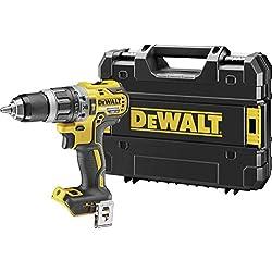 DᴇWALT DCD796NT-QW Perceuse sans fil, 2 vitesses, avec percussion, 18 V, moteur sans balais, mandrin sans clé en métal, 1,5 - 13 mm, dans un boîtier TSTAK sans batterie et chargeur