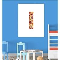 Alphabet I Nursery Children Educational Early Learning Poster Print Wall Art V2 preiswert