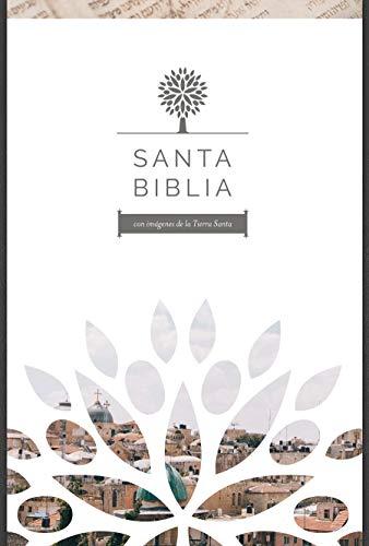Santa Biblia RVR 1960 - Letra grande, imitación piel negra con imágenes de Tierra Santa / Spanish Holy Bible RVR 1960 - Large Print (Biblia Rvr 1960)
