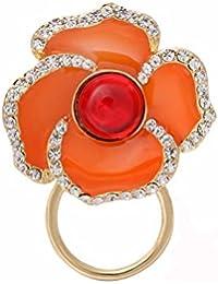 NOUMANDA motivo floreale, con chiusura magnetica, supporto, chiusura magnetica, supporto per occhiali da sole a forma di occhiali per San Valentino