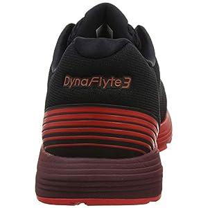 Asics Dynaflyte 3, Zapatillas de Entrenamiento para Hombre, Negro (Black/Red Alert 002), 43.5 EU