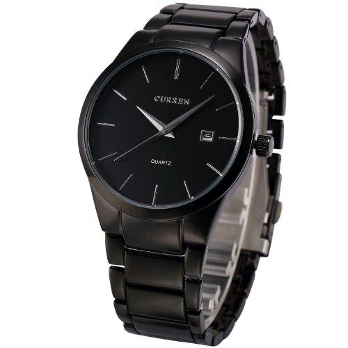 AMPM24-Analog-Herren-Armbanduhr-Quarzuhr-mit-Schwarze-Armband-aus-Metall-Datumanzeige-CUR048