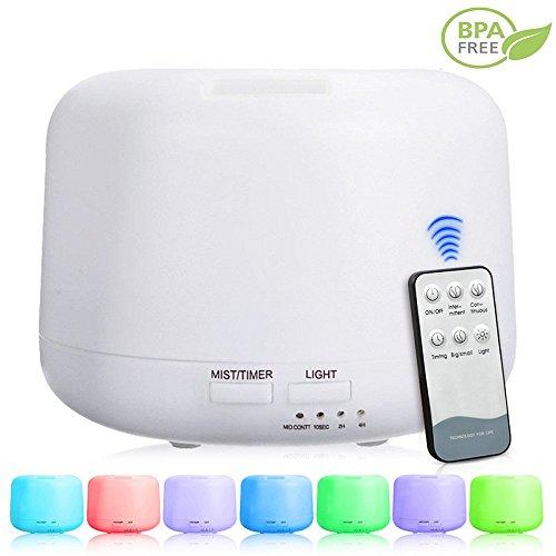300ml Umidificatore con 7 Colori Cambiato di Luce LED,Diffusore Atomizzatore di essenze...