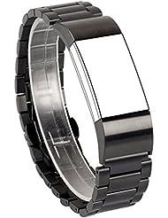 Für Fitbit Charge 2 Band, Wearlizer Metall Fitness Tracker Ersatzarmband Zubehör Armband für Fitbit Charge 2