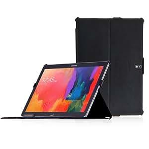 Manna Galaxy TabPRO 12.2 und NotePRO 12.2 UltraSlim Hülle | Case mit Autosleep |Aufstellbare Tasche aus schwarzem Kunstleder mit farbiger Naht | Schutzhülle für SM-T900 SM-T905 SM-P900 SM-P905