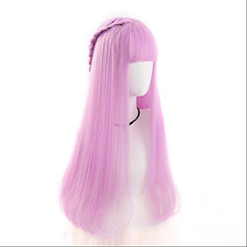 Chang Xiang Ya Shop Cosplay Perruque Rose Femelle Long Cheveux bouclés Perruque Longue personnalité Naturelle de la Mode Moelleux