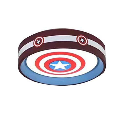 Captain America Kinderzimmerlampe Deckenleuchte Einfache moderne Jungen Schlafzimmerlampe Nordic American Cartoon Zimmerlampe -