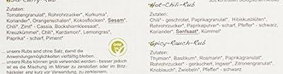 direct&friendly Bio Grill Gewürz Set - Geschenke für Männer ein perfektes Hähnchen auf der Dose - mit verschiedenen Rubs und Infoheft