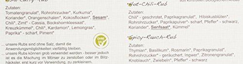 direct&friendly Bio Grill Gewürz Set – Geschenke für Männer ein perfektes Hähnchen auf der Dose – mit verschiedenen Rubs und Infoheft