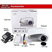 Mini Portable Home Theater Usb/vga Led Projector, White