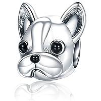 Abalorio para colgar de perrito «You & Me», hecho de plata de ley 925 para pulseras Pandora, compatible con pulseras europeas