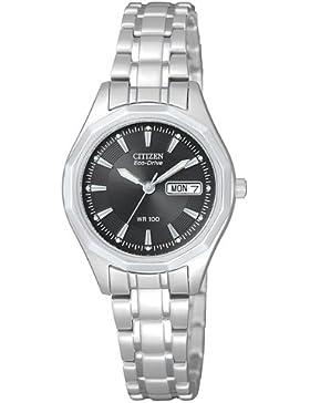 Citizen Damen-Armbanduhr Analog Quarz Edelstahl EW3140-51EE