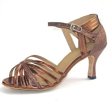 Silence @ Sandales pour femme Latin Dance Chaussures bronze