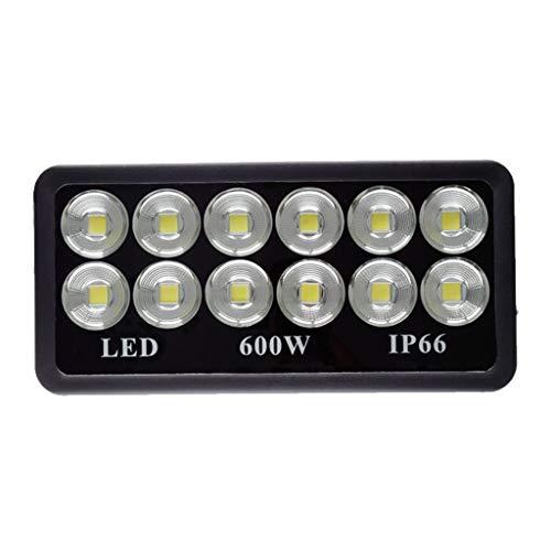 LED-Flutlichtstrahler,6500K Flutlicht IP66 Wasserdichtes WKZ Factory Stadium Im Freien LED Fluter Strahler (Farbe : Weißes Licht-600W)