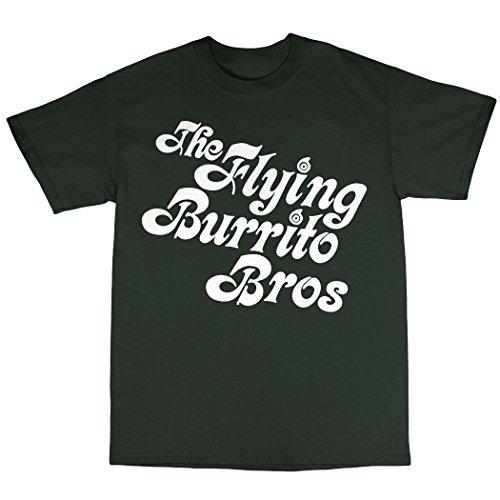 The Flying Burrito Brothers T-Shirt 100% Baumwolle Waldgrün