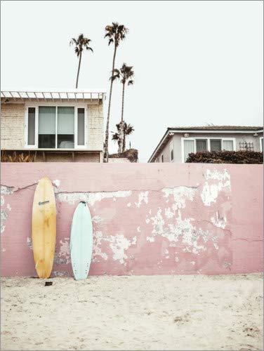 Wandbild Strandhäuser von