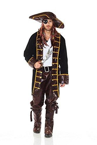 Herrenkostüm - Fluch der Karibik - Pirat 1, (Karibik Kostüme Der Fluch Film)