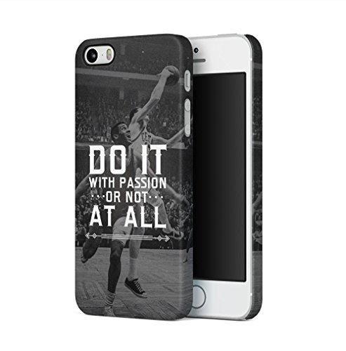 Basketball Do it With Passion Apple iPhone 5 / iPhone 5S / iPhone SE SnapOn Hard Plastic Phone Protective Fall Handyhülle Case Cover Iphone 5 Fall-hockey