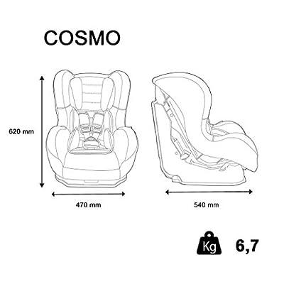 Autositz Disney Gruppe 0+/1von 0bis 18kg mit Protektoren seitliche-Herstellung 100% Französische-3Sterne Test TCS-5Figuren Disney-CALE Kopf und Sitzfläche gepolstert.