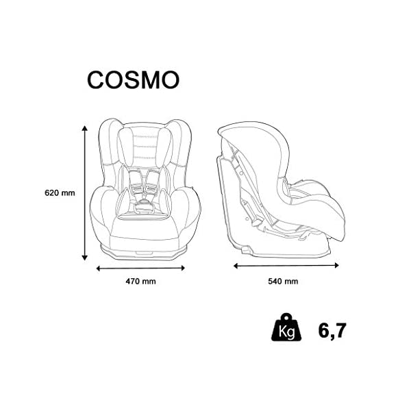 Nania Cosmo Group 0+/1 Infant Car Seat, Pink nania Forward and rear facing car seat Side impact protection Harness sleeves and quick release buckle 4
