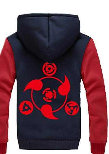Wellgift Anime Hoodie Winterjacke Herren Jugendliche Dick Plus -