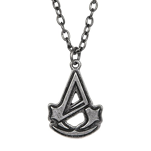 Assassin's Creed Unity Logo Silver Necklace
